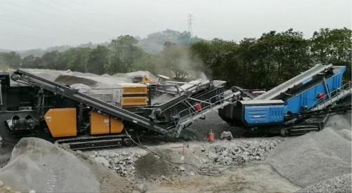 出租建筑垃圾移动反击式破碎机,建筑垃圾破碎筛分回收项目设备,砂石料再生