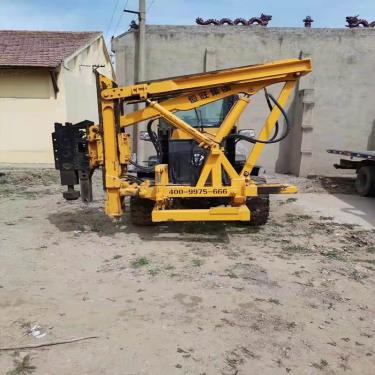 出售二手潍柴发动机打桩机 柴油锤护栏打桩机 低价甩卖