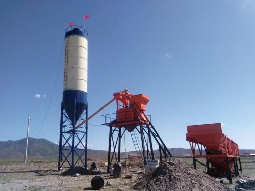 出租三一HZS35混凝土搅拌站移动式搅拌站长期低价出租