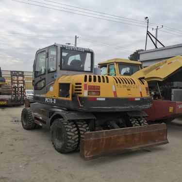 出售二手小松PC70-8轮式挖掘机 全国免费送货