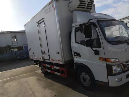 出售二手江淮骏铃V5蓝牌4.2米冷藏车