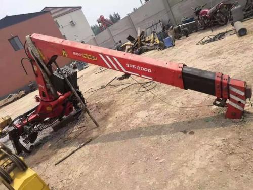 促销二手三一吊机 5吨9成新吊机 液压伸缩随车吊